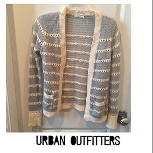 Urban Outfitters Kimchi Blue Cream & Gray Cardigan