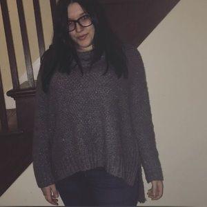 Cowl neck AEO silver sweater
