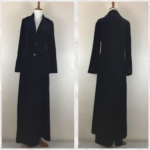 True Vintage Act III Velvet Blazer Maxi Skirt Set