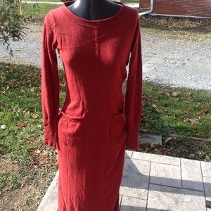 Womans Anthropologie sweater dress.