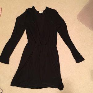 Classy black wrap dress