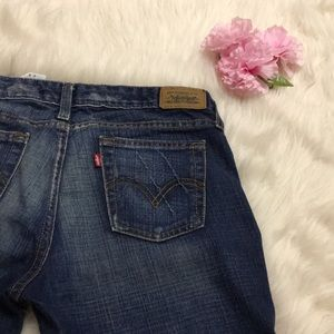 Levis low bootcut washed jeans 6 S