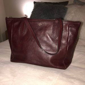 Maroon Fossil Tote