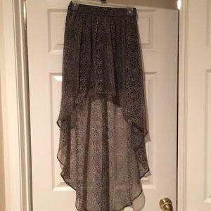 Ecote Skirts - Brown with black design skirt