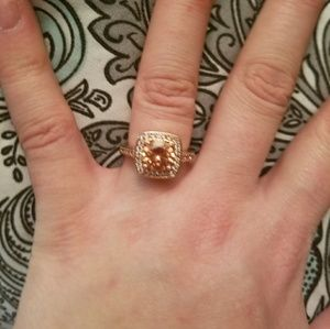 Jewelry - Size 7 14 Karat Filled Rose Gold & Morganite Ring