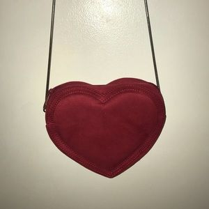 Red heart crossbody bag