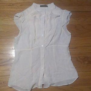 BCBG cream blouse