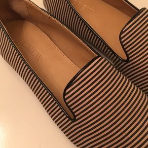 NEW J. Crew stripes loafers
