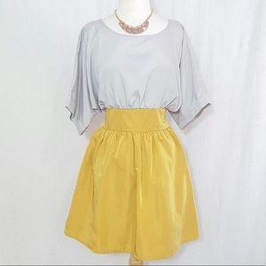 Esley Gray Gold Dress