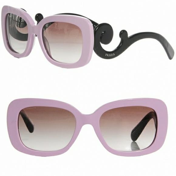 cff0b95901d Prada EUC SPR 27O Pink   Black Baroque Sunglasses.  M 5a2f5a2c78b31cce9f020303