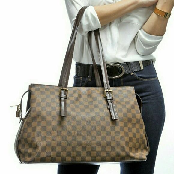 f41c23dd6e69a Louis Vuitton Handbags - Authentic Louis Vuitton Damier Ebene Chelsea GM
