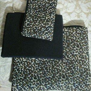 Animal print cosmetics bags