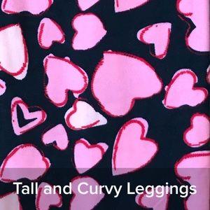 BNWT LuLaRoe TC RARE Valentine Heart Doodles