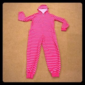 Body Candy pink/white striped onesie jumpsuit M
