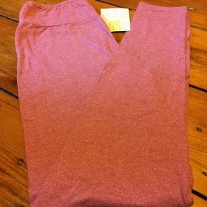 Lularoe OS solid mauve buttery soft leggings !