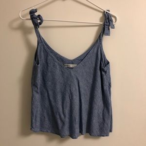 Chambray Tie Top