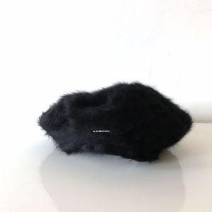 BNWT KANGOL Furgora Angora Beret Black