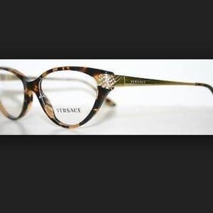 Versace 3166 B 998 Cat Eyed Eyeglasses Frame