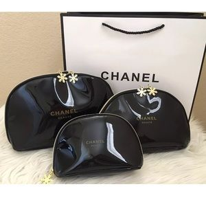 Chanel VIP gift cosmetics bags set of 3 bags