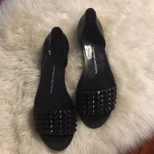 Chinese Laundry black slip on sandals