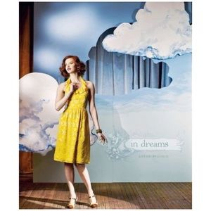 Anthropologie Lauren Moffatt Yellow Silk Dress