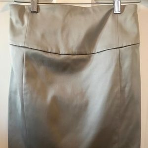 Express silver skirt size 4