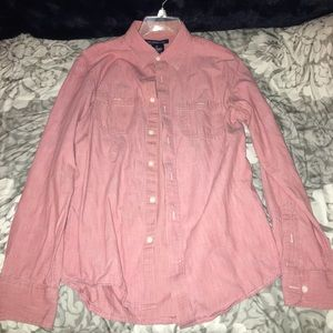 Salmon button down shirt from old Navy slim fit