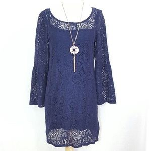 America's Outfitters Blue Lace Dress
