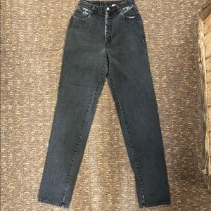 Vintage Rockies black lace jeans