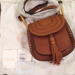 "NWT Chloe ""Hudson"" Mini Crossbody Bag in Caramel"