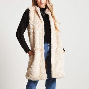 Longline Fur Vest