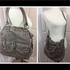 Taupe cross body/ shoulder bag