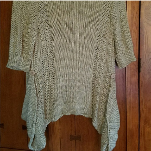 79% off Anthropologie Sweaters - Anthro Moth Gold Short Sleeve ...