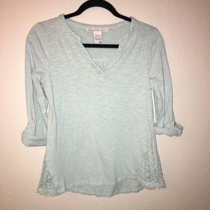 American Rag Cie Shirt 3/4 Sleeves Size Medium