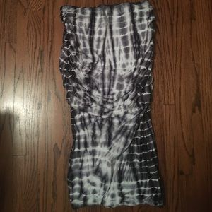James Perse Ruched Stretch Cotton Tube Skirt