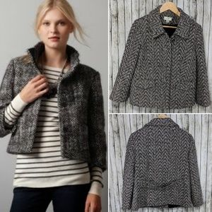 LOFT Cropped Tweed Blazer - 8