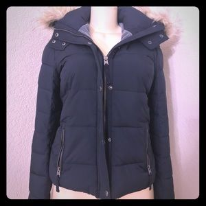 Abercrombie & Fitch hooded furry collar  Nwt