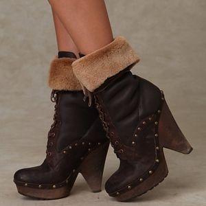 Sam Edelman Winsford Leather Shearling Cuff Boot
