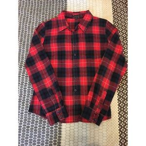 Forever 21 Red Buffalo Flannel Check Shirt.
