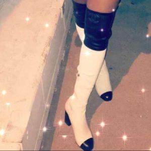 Exclusive Chanel runway boots