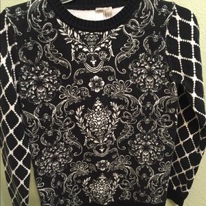 Fancy Patterned Sweater Forever 21 Exclusive