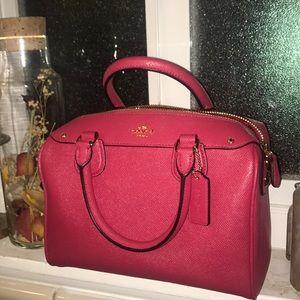 Leather Mini Coach Bag