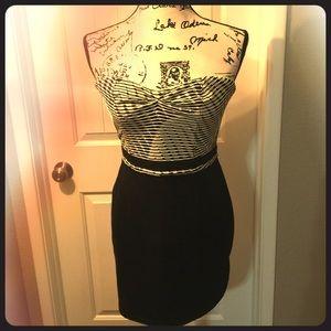 Retro tube top dress