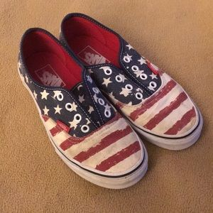 Van's flag shoe