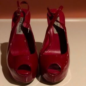 Steve Madden Patent Red Leather Heels