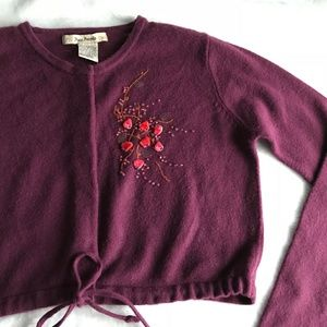 Free People Embellished Cropped Cardi 2 for 20$