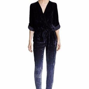 Young Fabulous & Broke Black Velvet Jumpsuit