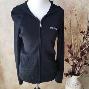 BCBGMaxazria Black knit Hoodie