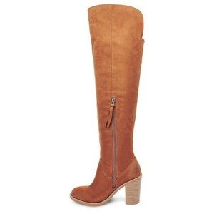 Dolce Vita cognac suede over the knee boots