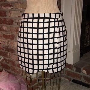 Forever 21 Contemporary Black and White Skirt
